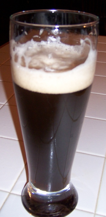 Tall Glass of Homebrewed Beer