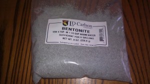 Bentonite for wedding mead