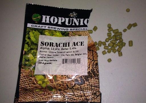 Sorachi Ace hops